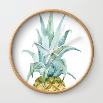 Pineapple Topper Wall Clock by All Is One