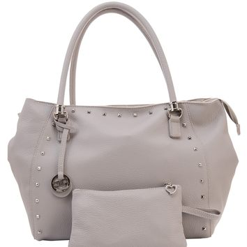 Ginevra-Unlined Textured Leather Shoulder Bag W/ Pouch