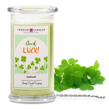 Good Luck Jewelry Greeting Candles