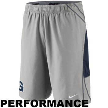 Nike Georgetown Hoyas Replica Lacrosse Performance Shorts - Gray