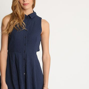 Alyssa Fit And Flare Button Down Dress | Ruche