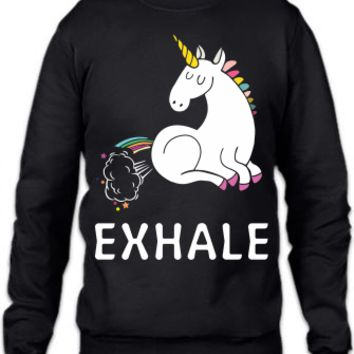Exhale Unicorn Crewneck Sweatshirt