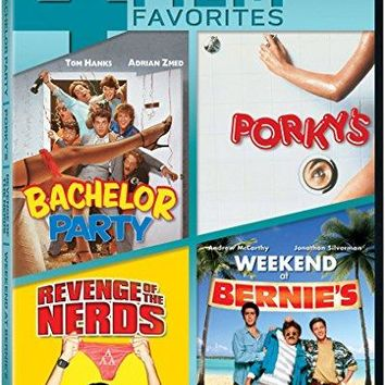 Adrian Zmed & Tom Hanks - Bachelor Party / Porky's / Revenge of the Nerds / Weekend at Bernie's Quadruple Feature