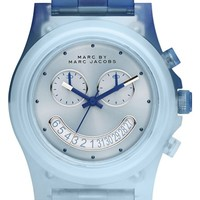 Women's MARC BY MARC JACOBS 'Raver' Chronograph Bracelet Watch, 41mm - Blue