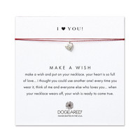 i ♥ you full heart berry silk necklace, sterling silver - Dogeared