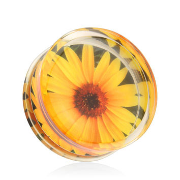 Sunflower Acrylic Saddle Plugs