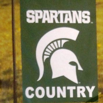 Michigan State Spartans COUNTRY 2-sided GARDEN Window Flag Banner University