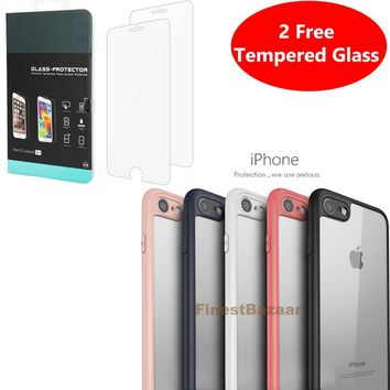 Luxury Ultra Slim Shockproof PC Bumper Case Cover Apple iPhone 10 X 8 7 6s 5s