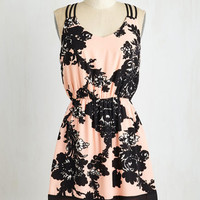 Short Length Sleeveless A-line Cup of Jovial Dress by ModCloth