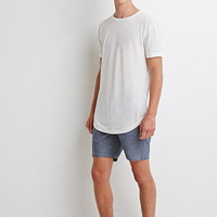 Speckled Chambray Shorts