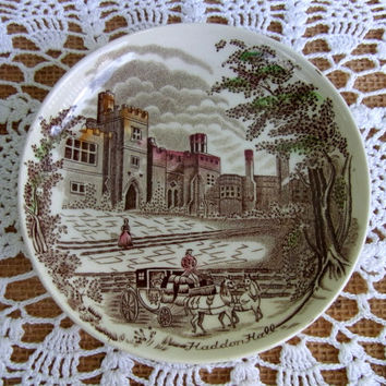 Johnson Brothers Old Britain Castles Coaster Old Britain Castle Pattern Color Brown Made in England