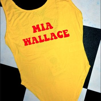 SWEET LORD O'MIGHTY! MIA WALLACE BODYSUIT IN YELLOW