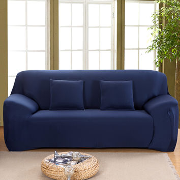 Spandex Stretch Sofa cover Big Elasticity Couch cover Loveseat SOFA Furniture Cover 1pc pure color 8 Colors - Machine Washable