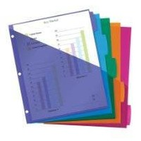 Avery® Multicolor Write-On Big Tab Dividers W/ Pocket, 8-Tab, Letter, 1 Set
