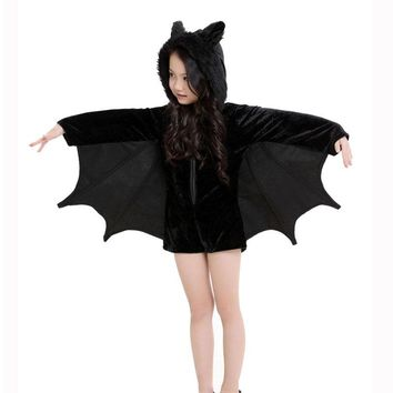 2017 5-17 Years Teenagers Cosplay Costume Girls Clothes Batman Dress Halloween Hooded Party Clothing Christmas Kids Dress