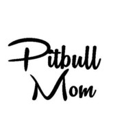 PITBULL MOM Car Decal Stickers