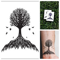 Tree - temporary tattoo (Set of 2)