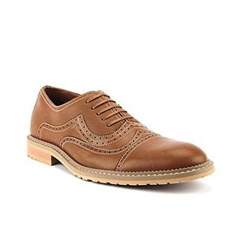 Ferro Aldo Men's 19382LE Cap Toe Stitch Lace Up Oxford Dress Shoes