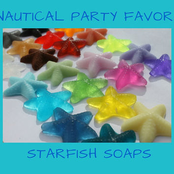 Starfish Soap Party Favor - Beach or nautical starfish soaps for Wedding, Bridal, Baby Shower, Beach, Destination Wedding - Pack of 25