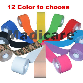 kinesiology Tape Pure cotton Therapy Muscle Tape Waterproof Sports Safety sports tape bandage 5CM*5M