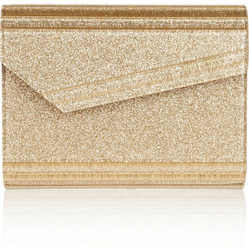 Jimmy Choo | The Candy glitter-print acrylic clutch | NET-A-PORTER.COM