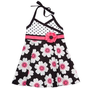 Rare Editions Floral Halter Sundress - Toddler
