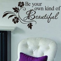 Newsee Decals DIY Be Your Own Kind Beautiful Flower Vine Wall Sticker Art Decor Decal Quote