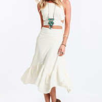 Concho Linen Skirt By Somedays Lovin