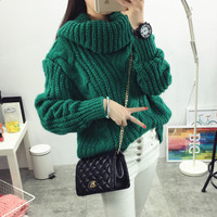 Thick Warm Chunky Sweater - One Size