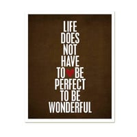Wonderful Life original digital print in by hairbrainedschemes