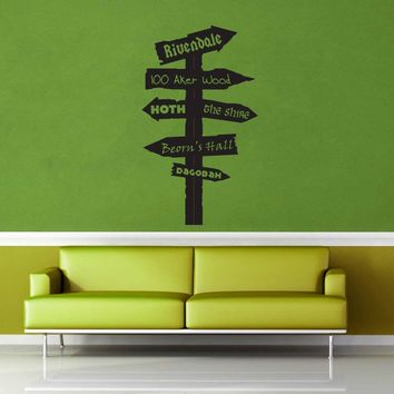 Fantasy Road Sign - Wall Decal - No 9$19.95