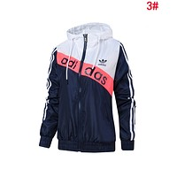 Adidas Fashion Women Men Hoodie Zipper Cardigan Sweatshirt Jacket Coat Windbreaker Sportswear 3#