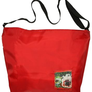 Large Cross-Body Tote Bag: Small Patch, Red
