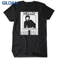 T-shirt Short Sleeve Hello Is It Me You're Looking For Mens T-shirt Tee Lionel Music Richie 80s Meme