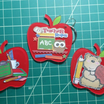 Teacher Apple Keychains