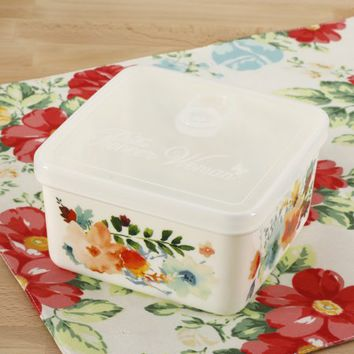 The Pioneer Woman Willow 43oz Square Storage Container - Walmart.com