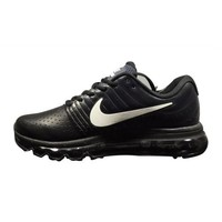 Men s Women s Nike Air Max 2017 Leather Shoes Black White