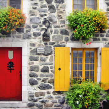 Historic Quebec City Street Scene