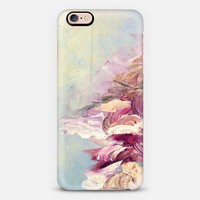 WINTER DREAMLAND 1 - Chic Pastel Turquoise Aqua Marsala Maroon Coastal Ocean Waves Snowy Nature Abstract Painting Brushstrokes Splash Colorful Cool Modern Lovely Girly Whimsical Design iPhone 6s case by Ebi Emporium | Casetify