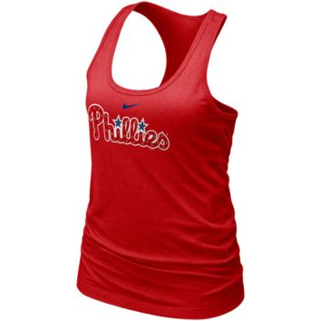 Nike Philadelphia Phillies Ladies Red MLB Bling Premium Racerback Tank Top