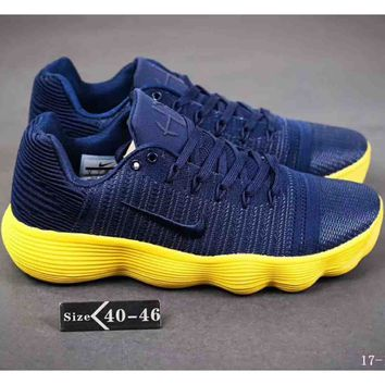 NIKE HYPERDUNK LOW 2018 latest tide brand combat basketball shoes F-A-YYMY-XY blue