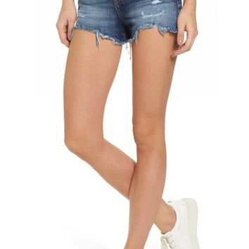 SP Black High Rise Fray Ripped Cutoff Shorts | Nordstrom