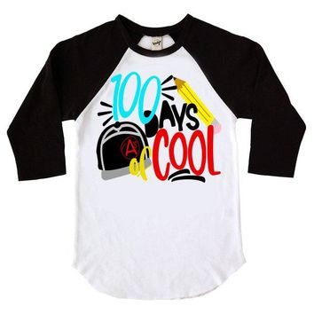 100 Days Of Cool Kids Raglan TShirt