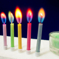 6PcsColored Birthday Cake Candles Safe Flames Wedding Party DessertDecorationsHU
