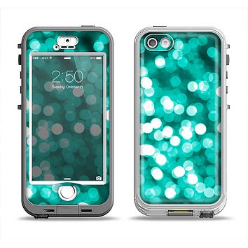 The Unfocused Teal Orbs of Light Apple iPhone 5-5s LifeProof Nuud Case Skin Set