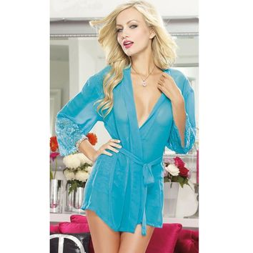 On Sale Cute Sexy Hot Deal Luxury Long Sleeve Gowns Set Exotic Lingerie [6595701059]