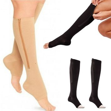Open toe pain relief compression socks for men and women