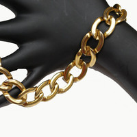 Monet Gold Chain Link Bracelet