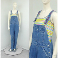 Vintage 90s Tommy Hilfiger Denim Overalls, Dungarees, Blue Jean Overalls, Bib Overalls, Womens Overalls