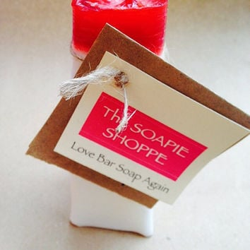 Vintage Valentine Hand-Crafted Candle